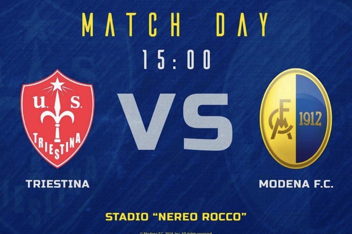 Il Modena battuto a Trieste (1-0)
