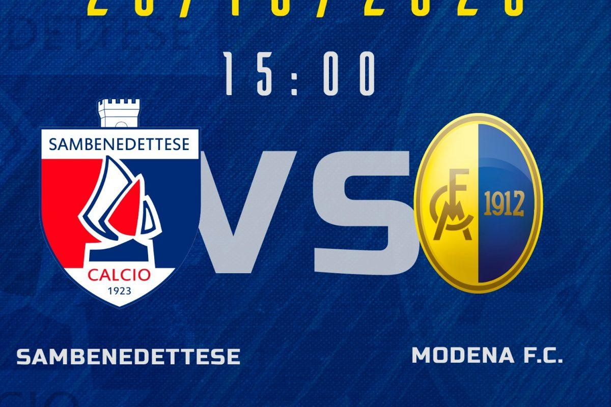 Live Sambenedettese – Modena 0-2 (Fine partita)