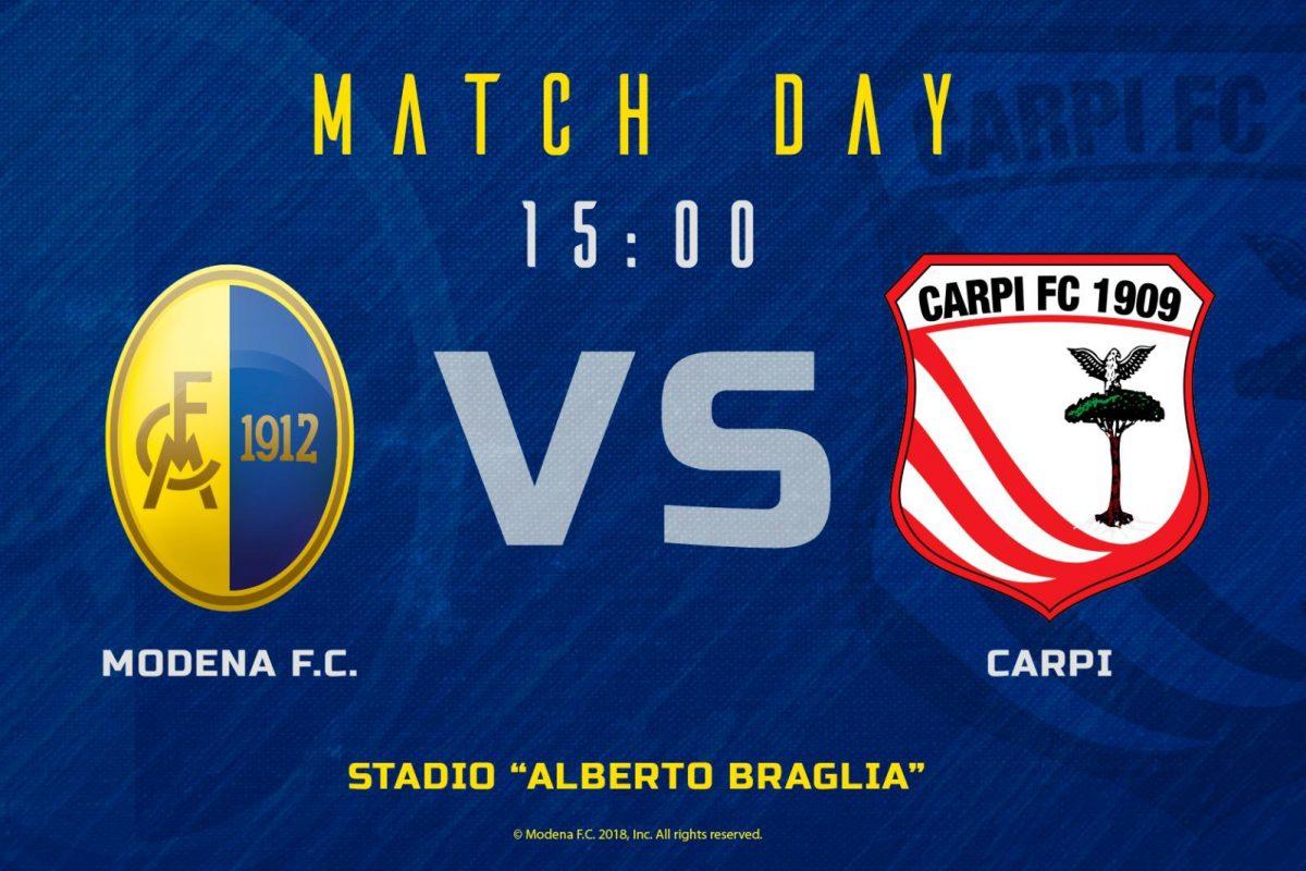 Live Modena – Carpi 2 – 1 (Fine gara)