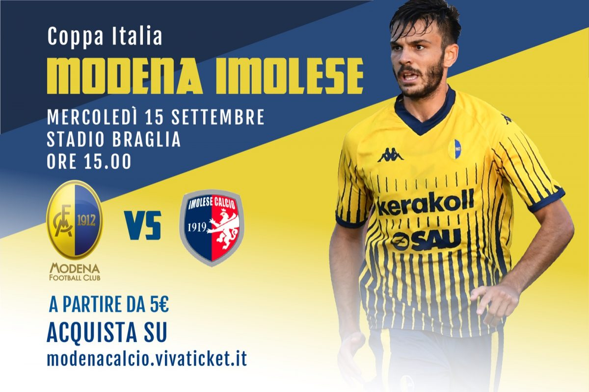 Coppa Italia: i biglietti di Modena-Imolese