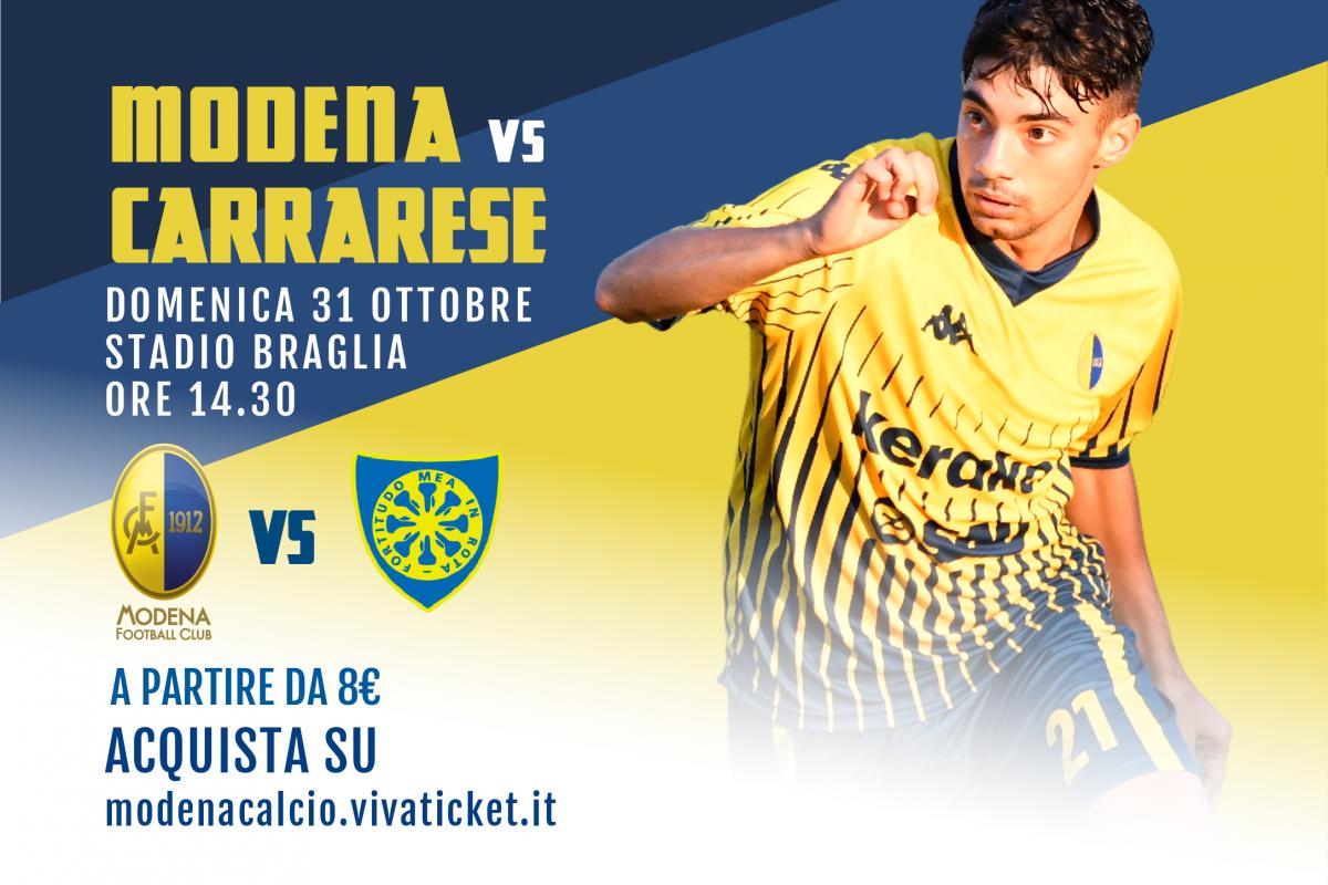 I biglietti di Modena-Carrarese