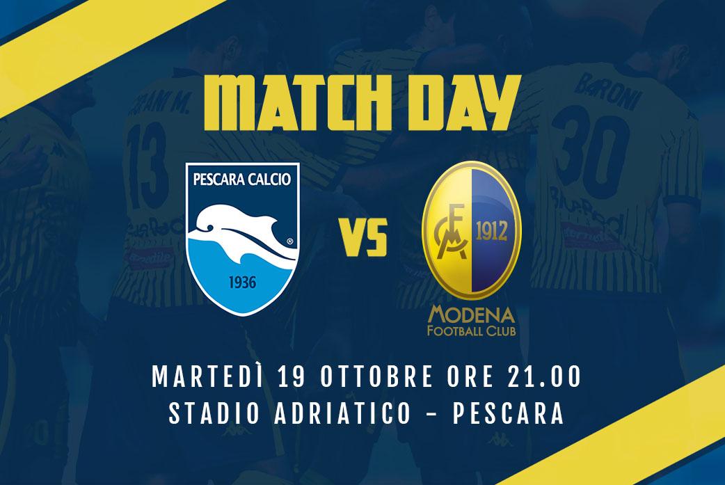 Live Pescara-Modena (pre gara)